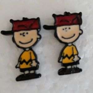 Peanuts Charlie Brown Earrings NWT